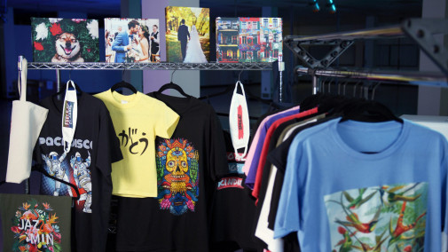 Direct-to-garment printing provides another opportunity to talk to customers.
