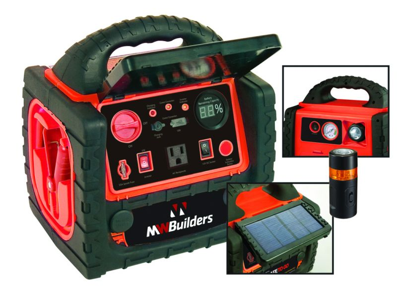 The Deluxe Solar PowerStation with Air Compressor from Superex is designed for both safety and everyday use.