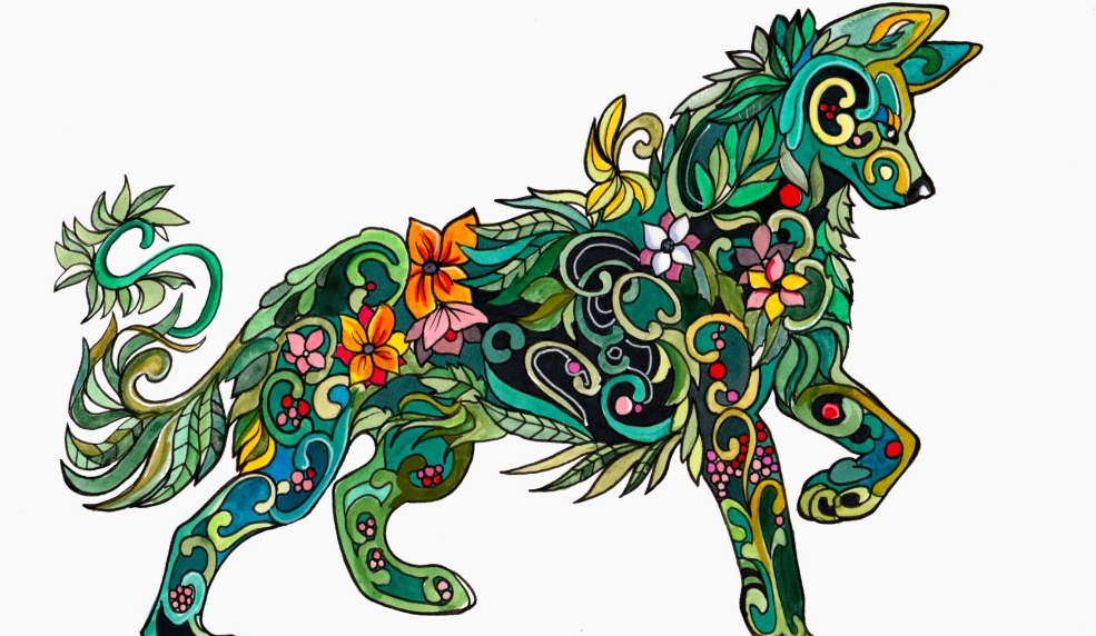 An Example Of A Design From Adult Coloring Book Image Via Twitter